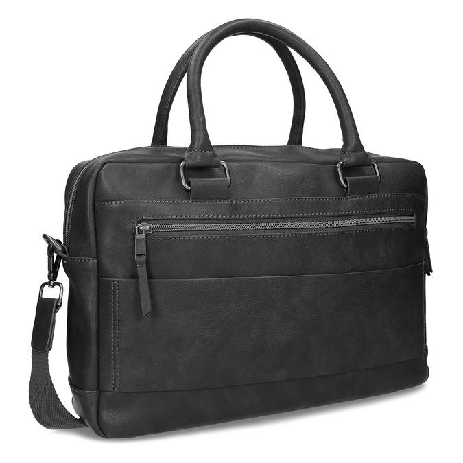 Šedá pánská taška s popruhem bata, šedá, 961-2713 - 13