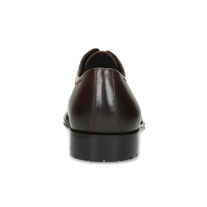Hnědé pánské kožené Derby polobotky bata, hnědá, 826-4604 - 15