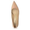Béžové kožené lodičky na stabilním podpatku bata, béžová, 624-8612 - 17