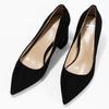 Černé dámské lodičky z broušené kůže bata, černá, 623-6605 - 16