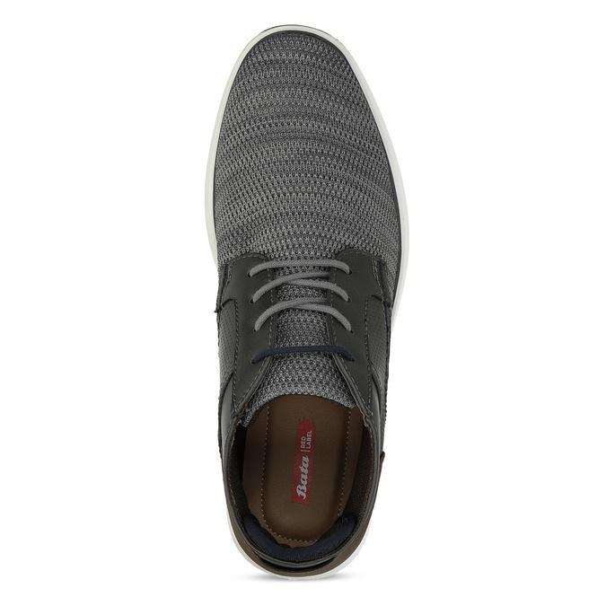 Šedá pánská kotníčková obuv s hnědým detailem bata-red-label, šedá, 821-2673 - 17