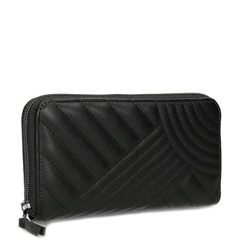 Dámská černá peněženka s prošitím bata, černá, 941-6720 - 13