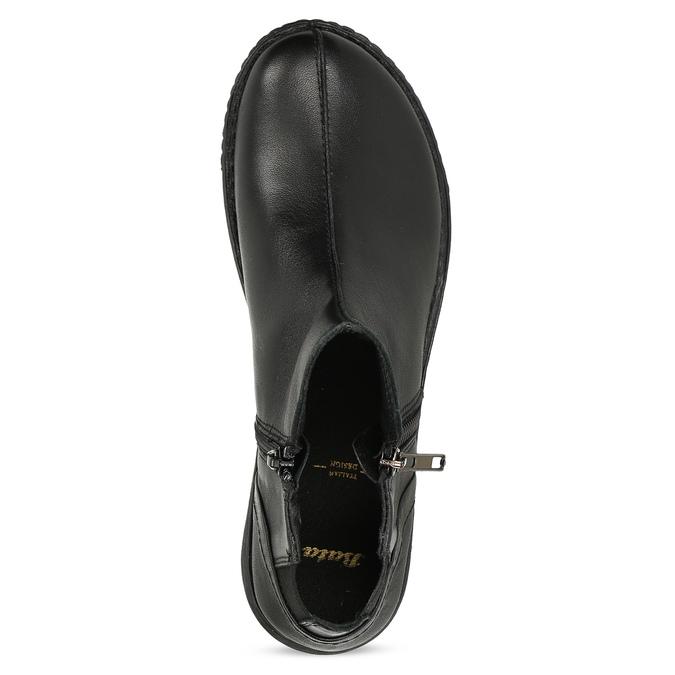 Dámská černá kožená kotníčková obuv bata, černá, 524-6618 - 17