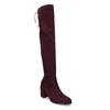 Vysoké dámské vínové kozačky se šňůrkami bata, červená, 699-5609 - 13