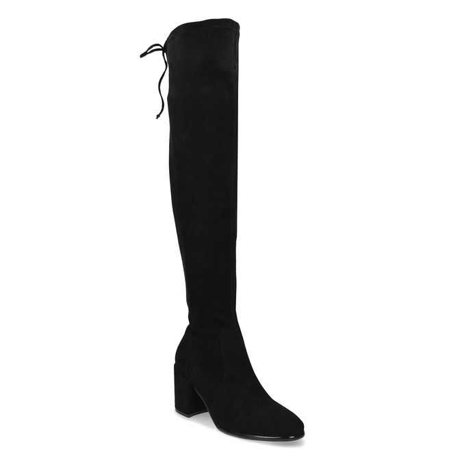 Vysoké černé kozačky na stabilním podpatku bata, černá, 699-6609 - 13