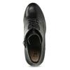 Kožené černé kotníčkové kozačky insolia, černá, 794-6605 - 17
