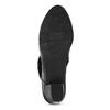 Kotníčková kožená obuv na stabilním podpatku bata, černá, 624-6609 - 18
