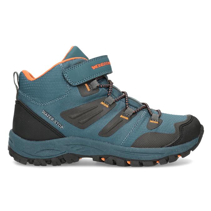 Modrá dětská kotníčková Outdoor obuv weinbrenner, modrá, 419-9621 - 19
