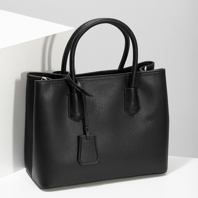 Černá dámská kabelka s popruhem bata, černá, 961-6970 - 17