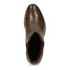 Hnědé dámské kožené Ombré kozačky bata, hnědá, 694-4601 - 17