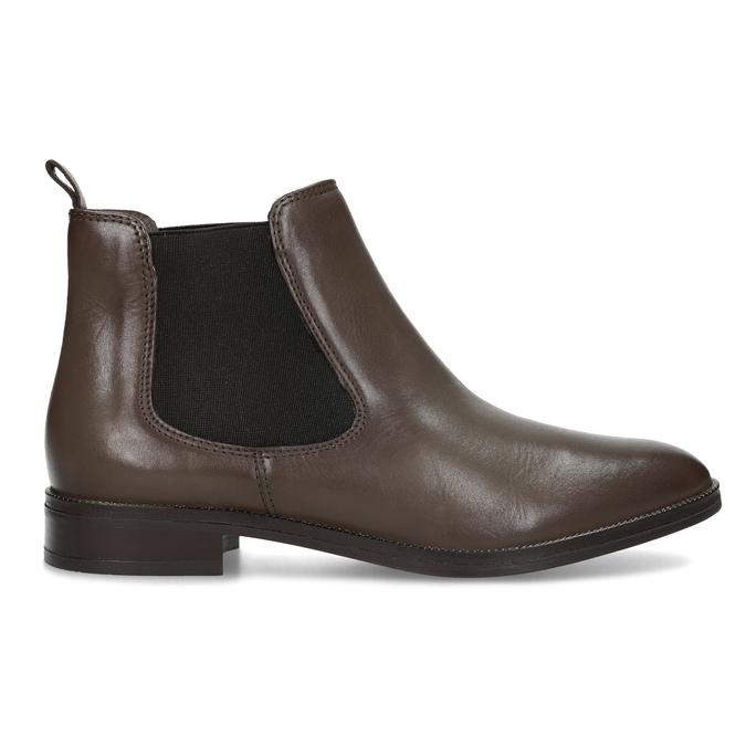 Hnědá kožená dámská Chelsea obuv bata, hnědá, 594-4655 - 19