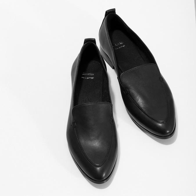 Černé dámské mokasíny kožené bata, černá, 534-6601 - 16