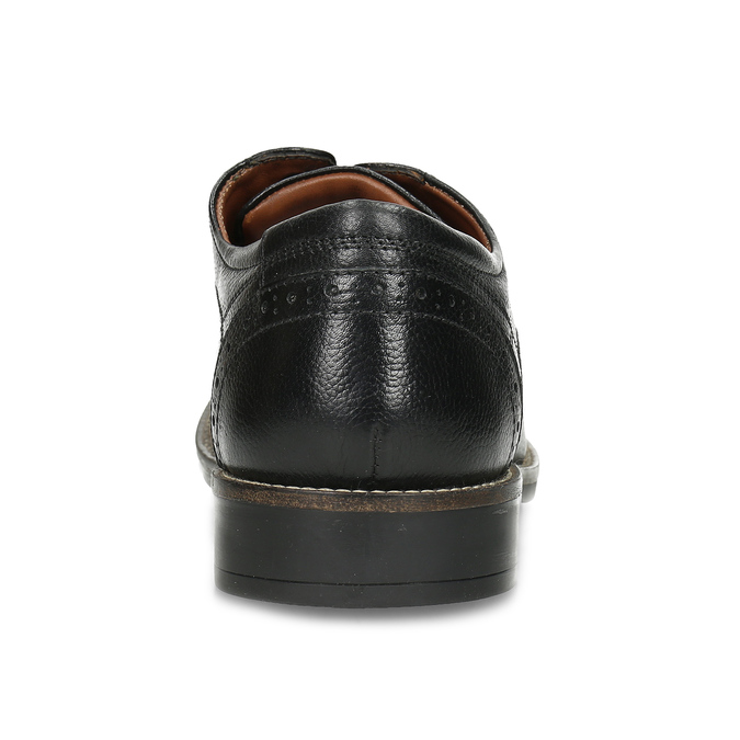 Pánské kožené polobotky v Derby stylu bata, černá, 824-6608 - 15