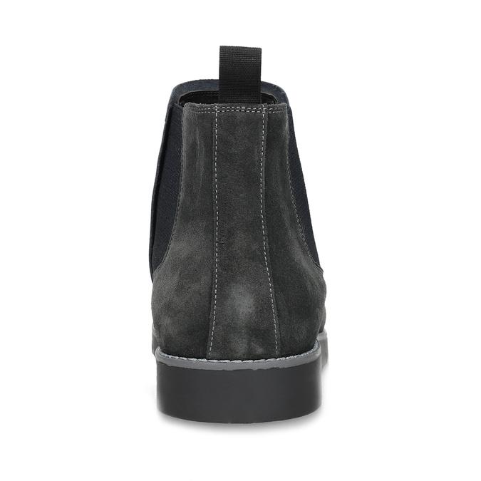 Šedá pánská kotníčková obuv z broušené kůže flexible, šedá, 823-2700 - 15