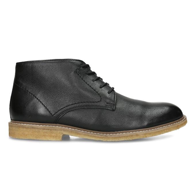 Černá pánská kožená kotníčková obuv bata, černá, 824-6685 - 19