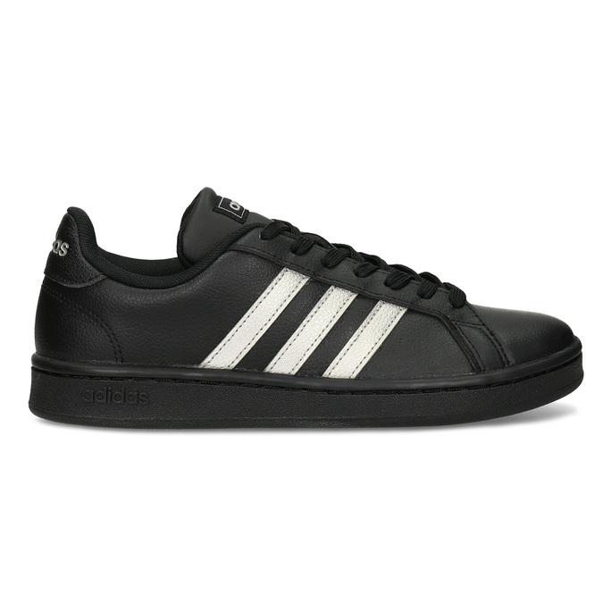 Dámské černé tenisky se stříbrnými detaily adidas, černá, 501-6221 - 19