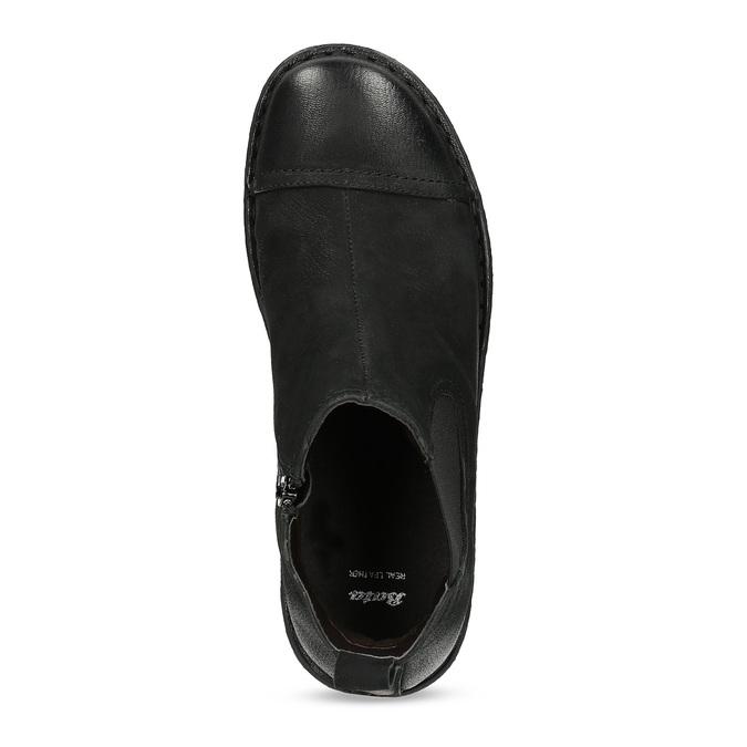 Kožená dámská kotníčková Chelsea obuv bata, černá, 594-6626 - 17
