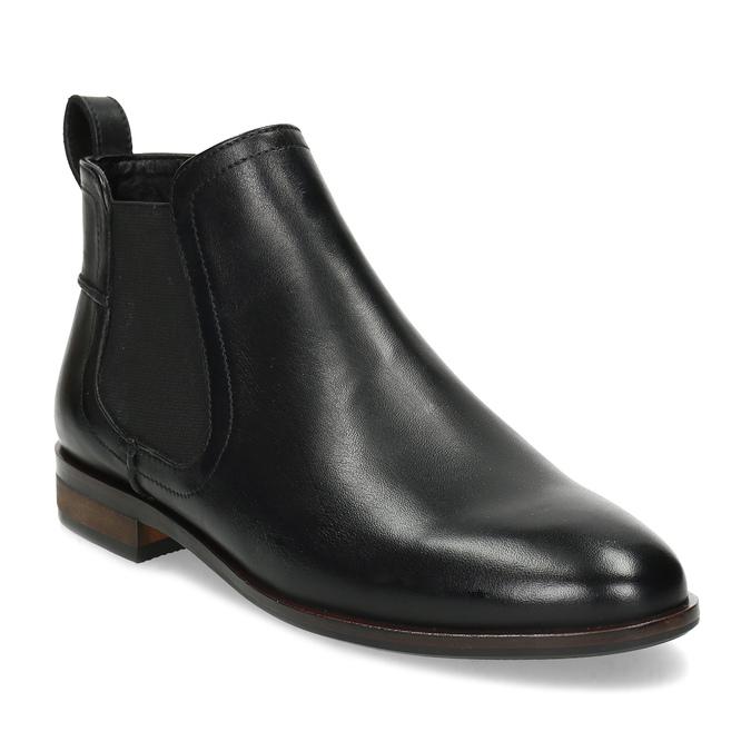 Kožená černá dámská Chelsea obuv bata, černá, 594-6644 - 13