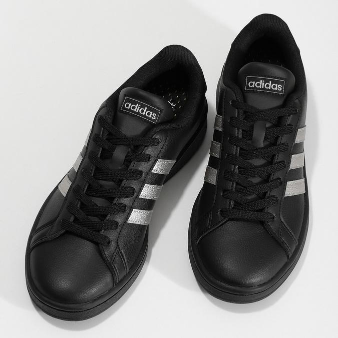 Dámské černé tenisky se stříbrnými detaily adidas, černá, 501-6221 - 16