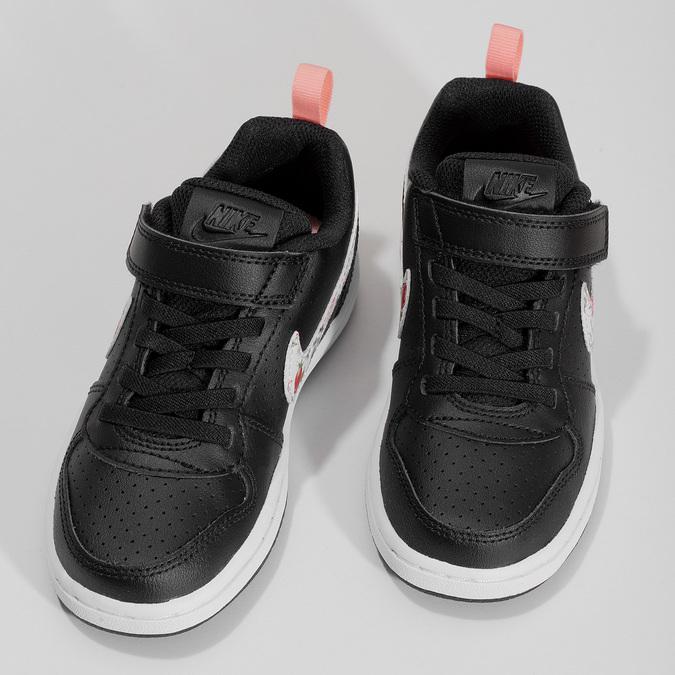 Černé dětské tenisky s barevným logem nike, černá, 301-6303 - 16