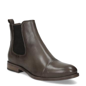 Hnědá kožená dámská Chelsea obuv bata, hnědá, 594-4626 - 13