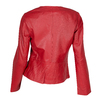 Červená dámská kožená bunda bata, červená, 974-5177 - 26