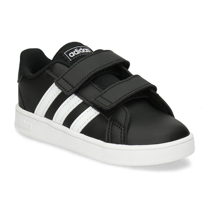 Černé dětské tenisky na suché zipy adidas, černá, 101-6281 - 13