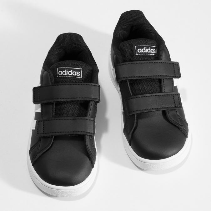 Černé dětské tenisky na suché zipy adidas, černá, 101-6281 - 16