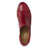 Červené kožené kotníčkové kozačky s prošitím gabor, červená, 626-5102 - 17