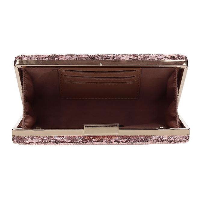 Růžové psaníčko s řetízkem a flitry bata, růžová, 961-8825 - 15