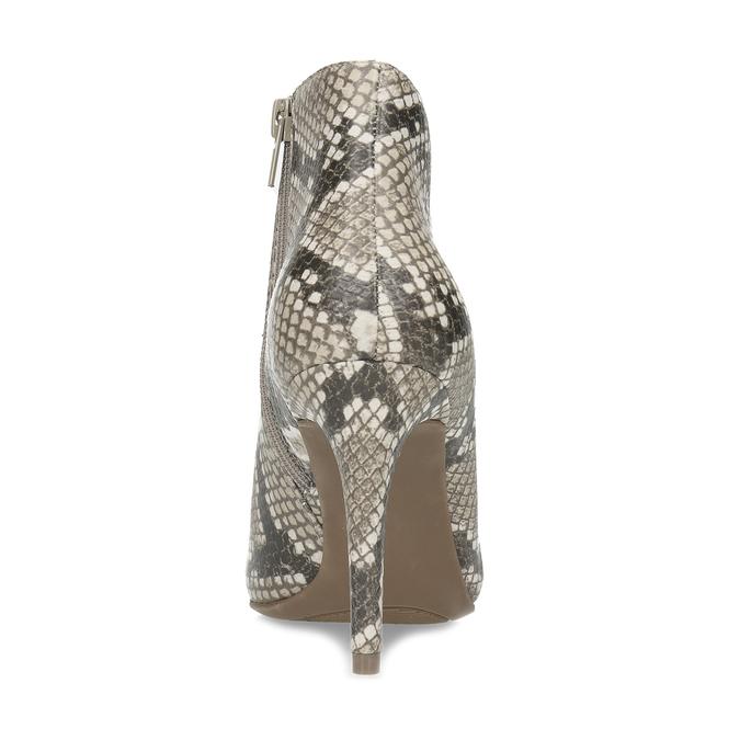 Kotníčkové dámské kozačky s hadím vzorem bata-red-label, béžová, 799-8603 - 15