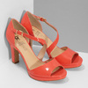 Korálové dámské sandály s asymetrickým páskem insolia, červená, 761-5600 - 26
