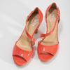 Korálové dámské sandály s asymetrickým páskem insolia, červená, 761-5600 - 16