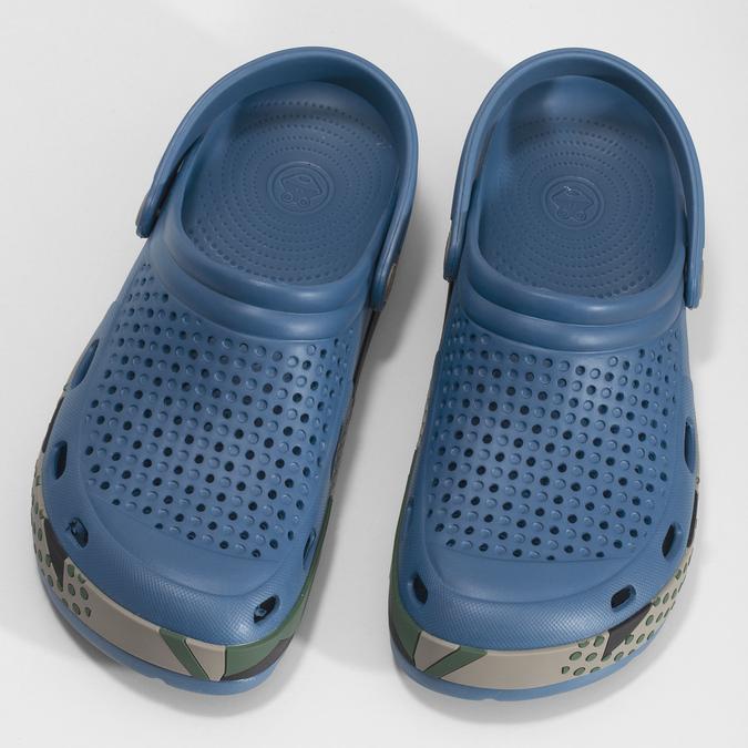 Modré pánské sandály typu Clogs coqui, modrá, 872-9618 - 16