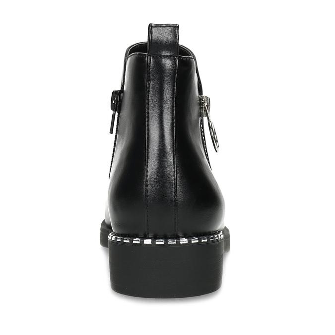 Dámská černá kotníčková obuv se zipem bata, černá, 591-6601 - 15