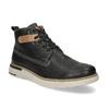 Černá kožená pánská kotníčková obuv weinbrenner, černá, 844-6638 - 13