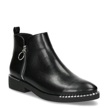 Dámská černá kotníčková obuv se zipem bata, černá, 591-6601 - 13
