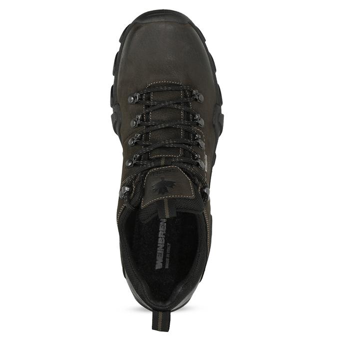 Pánská kožená obuv v Outdoor stylu weinbrenner, hnědá, 846-4722 - 17