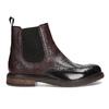 Vínová pánská kožená kotníčková Chelsea obuv bata, červená, 826-5630 - 19