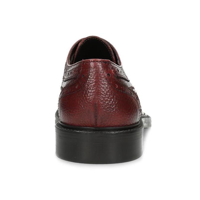 Červené pánské kožené Brogue polobotky bata, červená, 826-5629 - 15