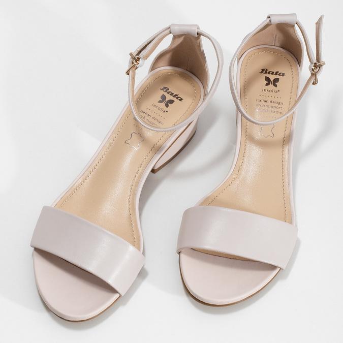 Tělové dámské sandály na nízkém podpatku insolia, růžová, 661-8620 - 16