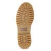 Dámské kožené Worker Boots s prošíváním weinbrenner, žlutá, 596-8603 - 18