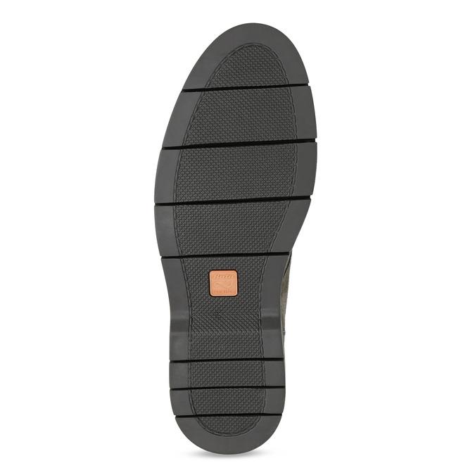 Pánské ležérní polobotky z broušené kůže flexible, šedá, 823-8961 - 18