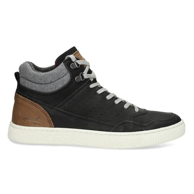 Černé pánské kotníčkové kožené tenisky bata, černá, 846-6881 - 19