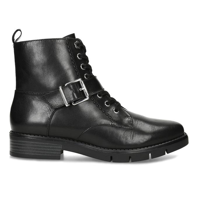 Černá dámská kožená kotníčková obuv flexible, černá, 594-6615 - 19
