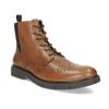 Hnědá kožená kotníčková Chelsea obuv flexible, hnědá, 896-3742 - 13