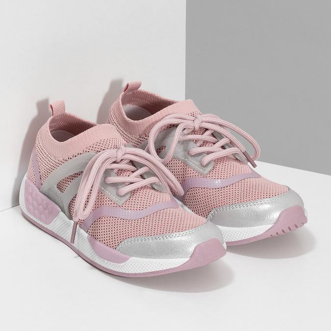 Růžové dětské tenisky v pleteném designu mini-b, růžová, 329-5282 - 26