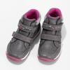 Šedé dětské tenisky s růžovými detaily mini-b, šedá, 221-2618 - 16