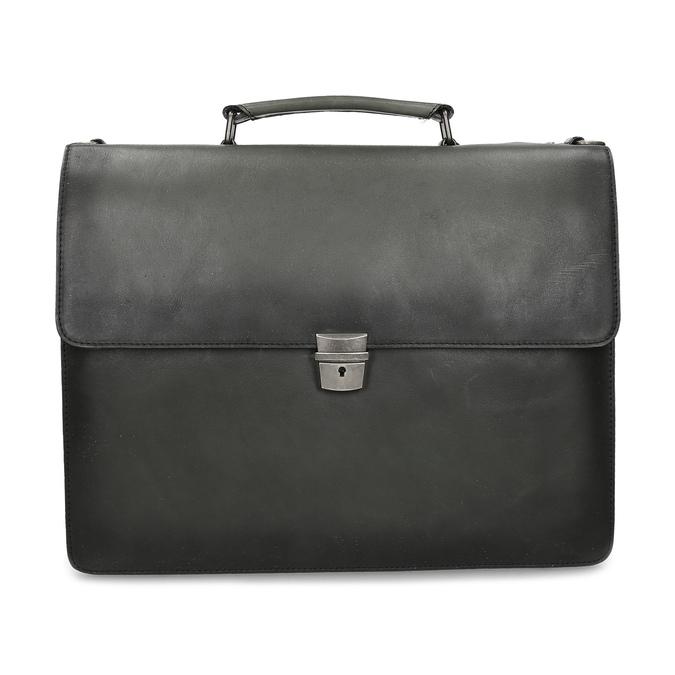 Pánská šedá kožená aktovka bata, šedá, 964-2613 - 26