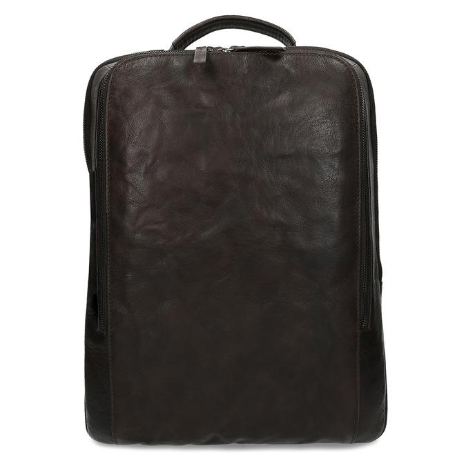 Hnědý kožený pánský batoh bata, hnědá, 964-4328 - 26